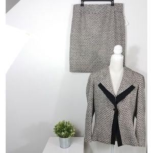 Carlisle Brompton Tweed 2 Piece Skirt Set Suiting